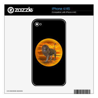 Lion Sunset Skin For iPhone 4S