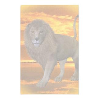 Lion Sunset Stationery