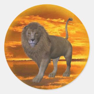 Lion Sunset Sticker