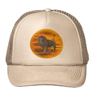 Lion Sunset Trucker Hat