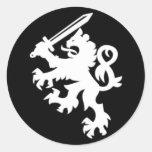 LION_SWORD PEGATINA REDONDA