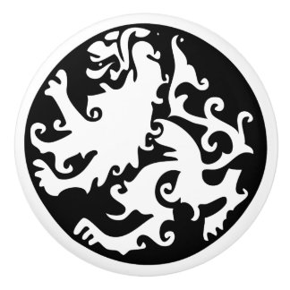 Lion Symbool Celtic Crest Griffin Logo Ceramic Knob