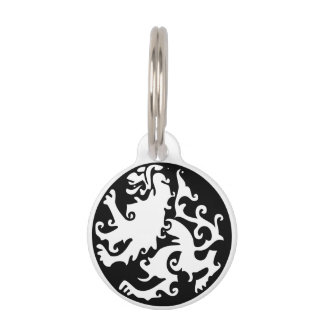 Lion Symbool Celtic Crest Griffin Logo Pet ID Tag
