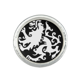 Lion Symbool Celtic Crest Griffin Logo Photo Rings