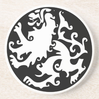 Lion Symbool Celtic Crest Griffin Logo Sandstone Coaster