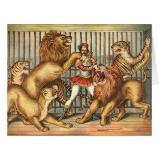 Lion Tamer 1873 Card