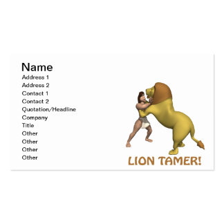 Lion Tamer Business Card