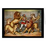 Lion tamer card