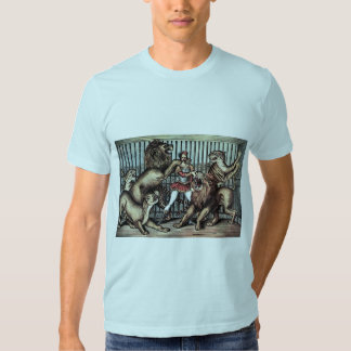 Lion Tamer In Cage With Lions Circus Poster Shirt