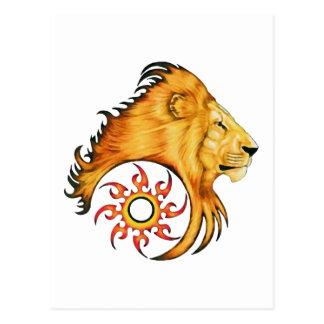 Lion Tattoo Art design Postcard
