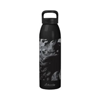Lion tattoo reusable water bottles