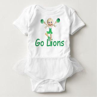 Lion  Team Cheerleader Baby Bodysuit