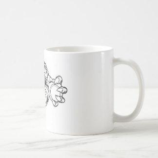 Lion Tennis Ball Sports Mascot Coffee Mug
