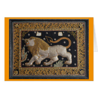Lion Thai Tapestry - Blank Greeting Card