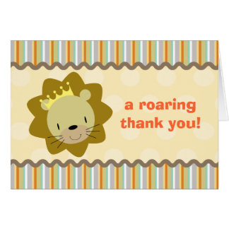 Lion Thank You Card
