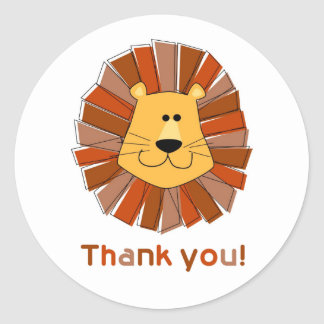 Lion Thank You Stickers