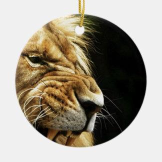 lion the king ceramic ornament