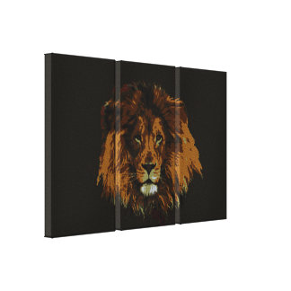 Lion the King of the Wild art prints Stretched Canvas Print