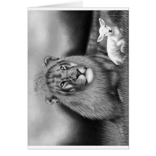 Lion & the Lamb Card