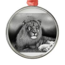 Lion & the Lamb Metal Ornament