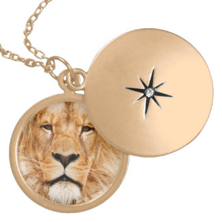 LION THE WILD LOCKET NECKLACE
