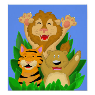 Lion Tiger and Bear Poster