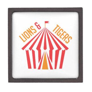 Lion & Tigers Premium Keepsake Boxes