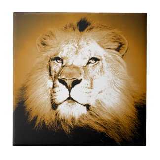 Lion Small Square Tile