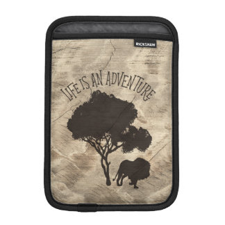Lion Tree Jungle Adventure Man Men Wild Wood Sleeve For iPad Mini