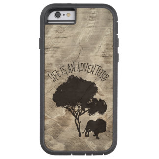 Lion Tree Jungle Adventure Man Men Wild Wood Tough Xtreme iPhone 6 Case