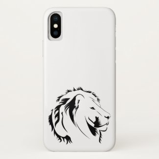 Lion Tribal 001 iPhone X Case