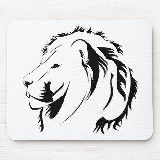 Lion Tribal 001 Mouse Pad