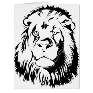 Lion Tribal 002 Card