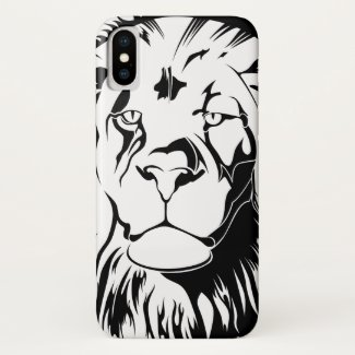 Lion Tribal 002 iPhone X Case