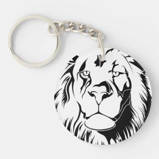 Lion Tribal 002 Keychain
