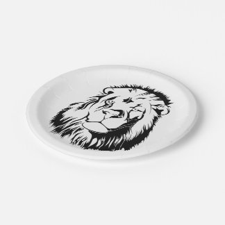 Lion Tribal 002 Paper Plate