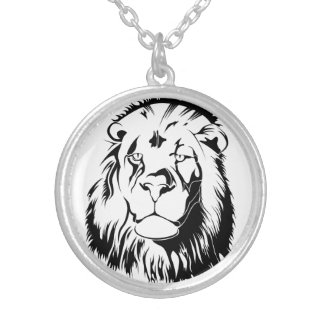 Lion Tribal 002 Silver Plated Necklace