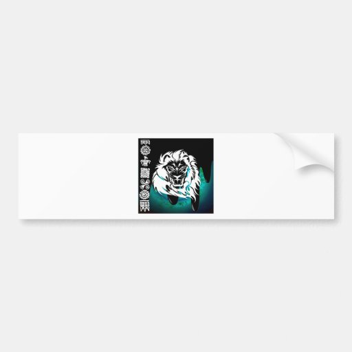 LION TRIBAL PRODUCTS BUMPER STICKERS
