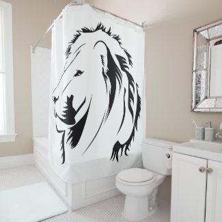 Lion Tribal Shower Curtain