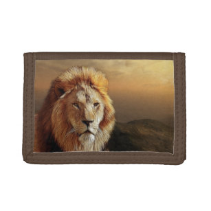 Royal Lion Mens Wallet Billfold Geometric Wolf