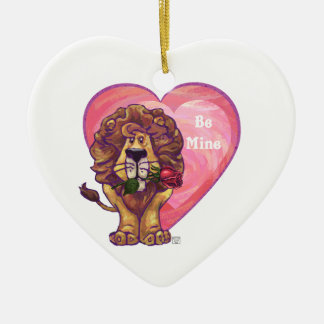 Lion Valentine's Day Ornaments