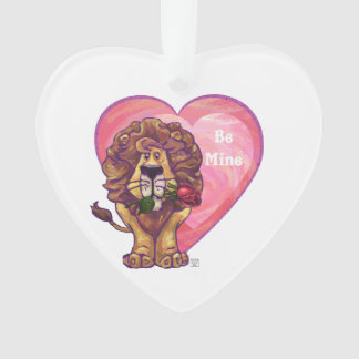 Lion Valentine's Day Ornament