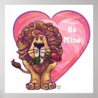 Lion Valentine's Day Poster