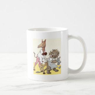 Lion Waiter Drops Dishes Coffee Mug