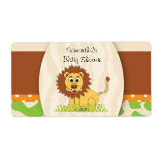 Lion Water Bottle Label Shipping Label