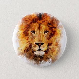 Lion Watercolor Button