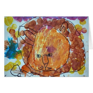 Lion Watercolor - Pictures by Paxton Card