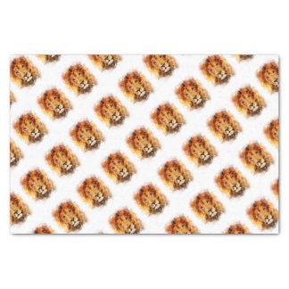 Lion Watercolor Tissue Paper