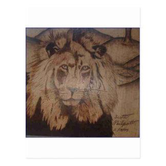 LION WB 2.PNG Lion Wood Burnig 2 Postcard