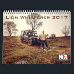 "Lion Whisperer 2017 Calendar<br><div class=""desc"">Enjoy a new photo every month with this stunning calendar in a beautiful sepia tone.   Photos by Jeroen Hofman 2015.</div>"